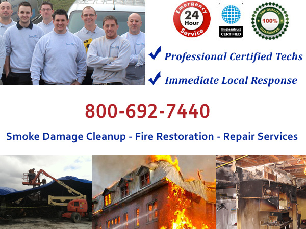 Burlington   smoke and fire damage cleanup
