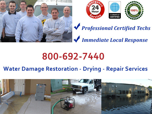 flood cleanup and emergency water removal Randolph