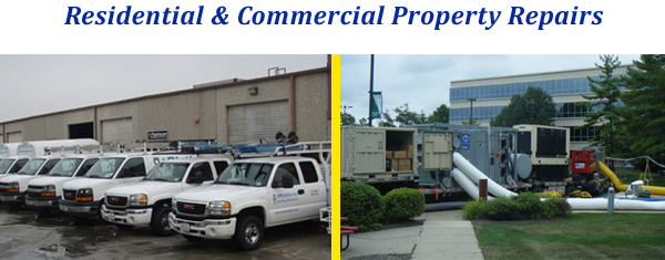 residential and commercial fire repairs by the pros in